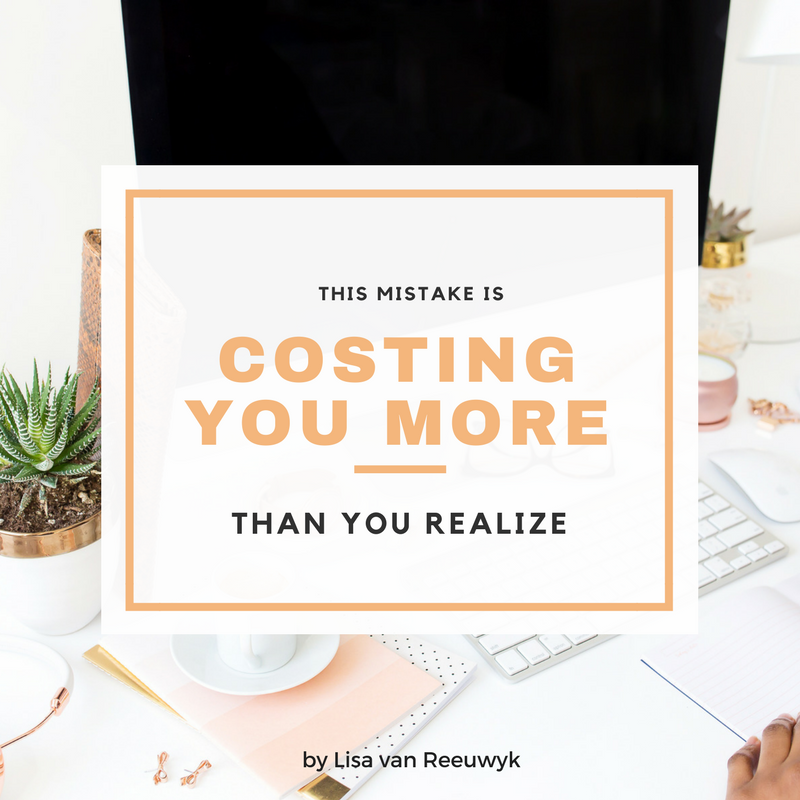 """This mistake is costing you more than you realize."" - @BloomLisa"