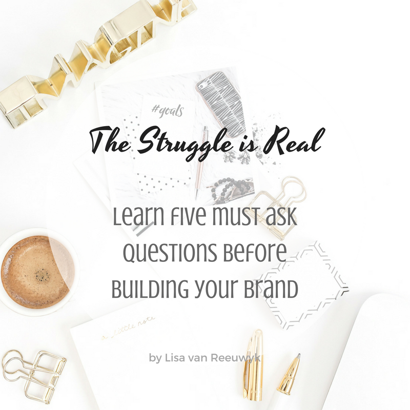 """The five must ask questions for building your brand"" - @BloomLisa"
