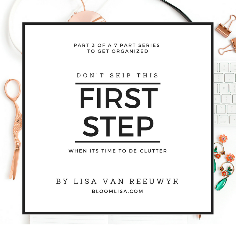 "#Dont skip this first step when its time to clear away clutter."" - @BloomLisa"