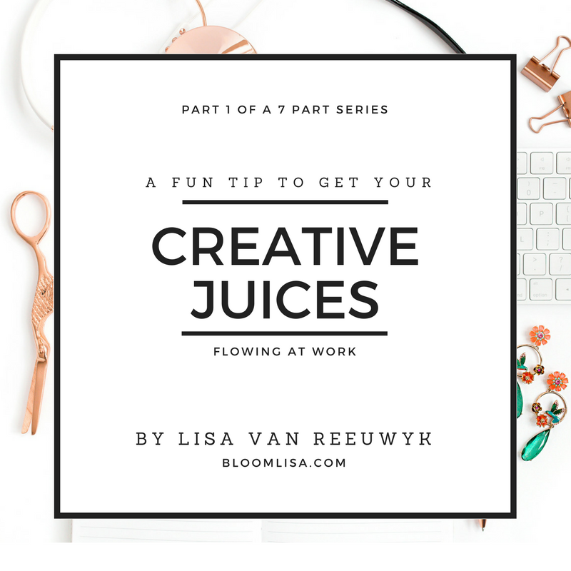 """Jumpstart your creativity with this fun tip"" - @BloomLisa"