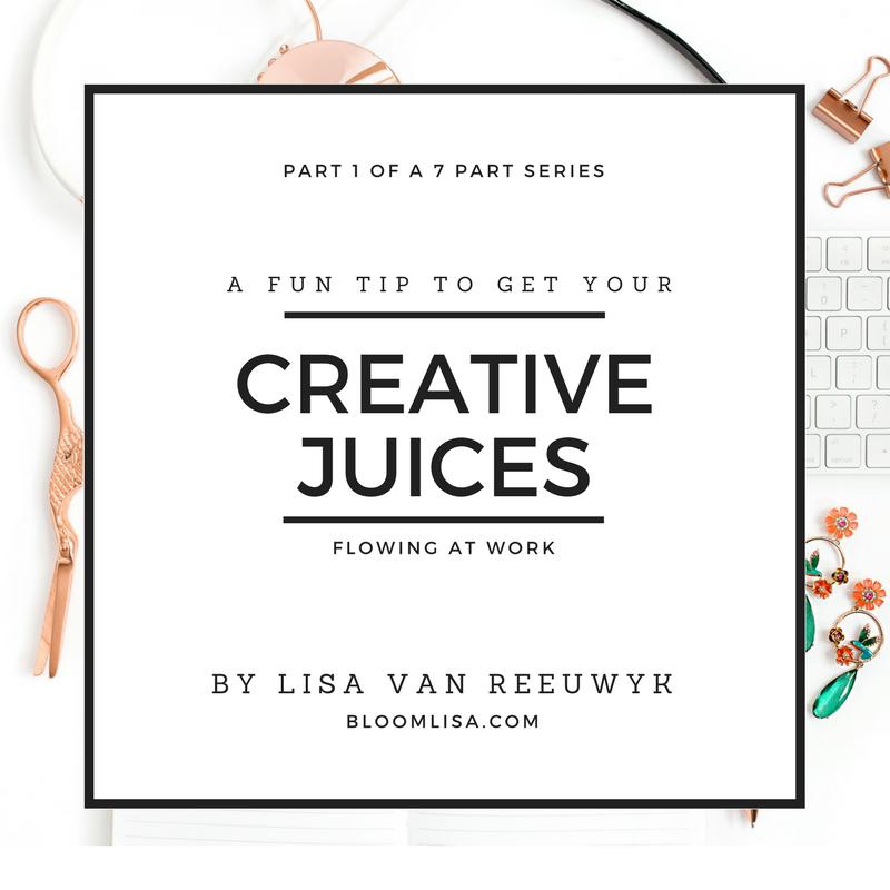 """Jumpstart your creativity with this fun tip"" - @BloomLisa"