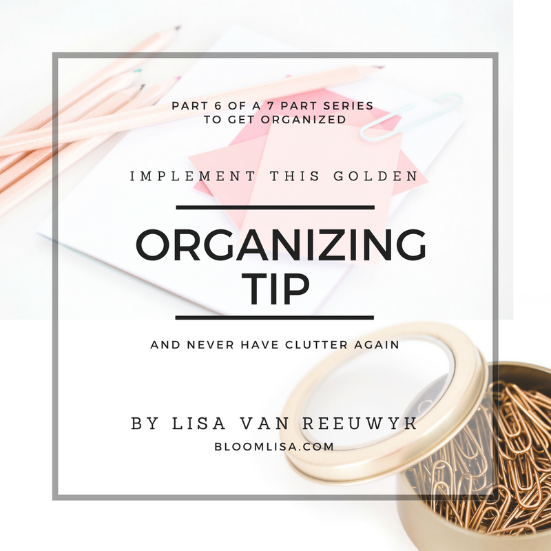 """Change your life with this organizing tip."" - @BloomLisa"